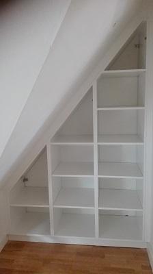 Special designede garderober i rum med stråvægge